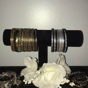 Aldo gold and silver bracelets